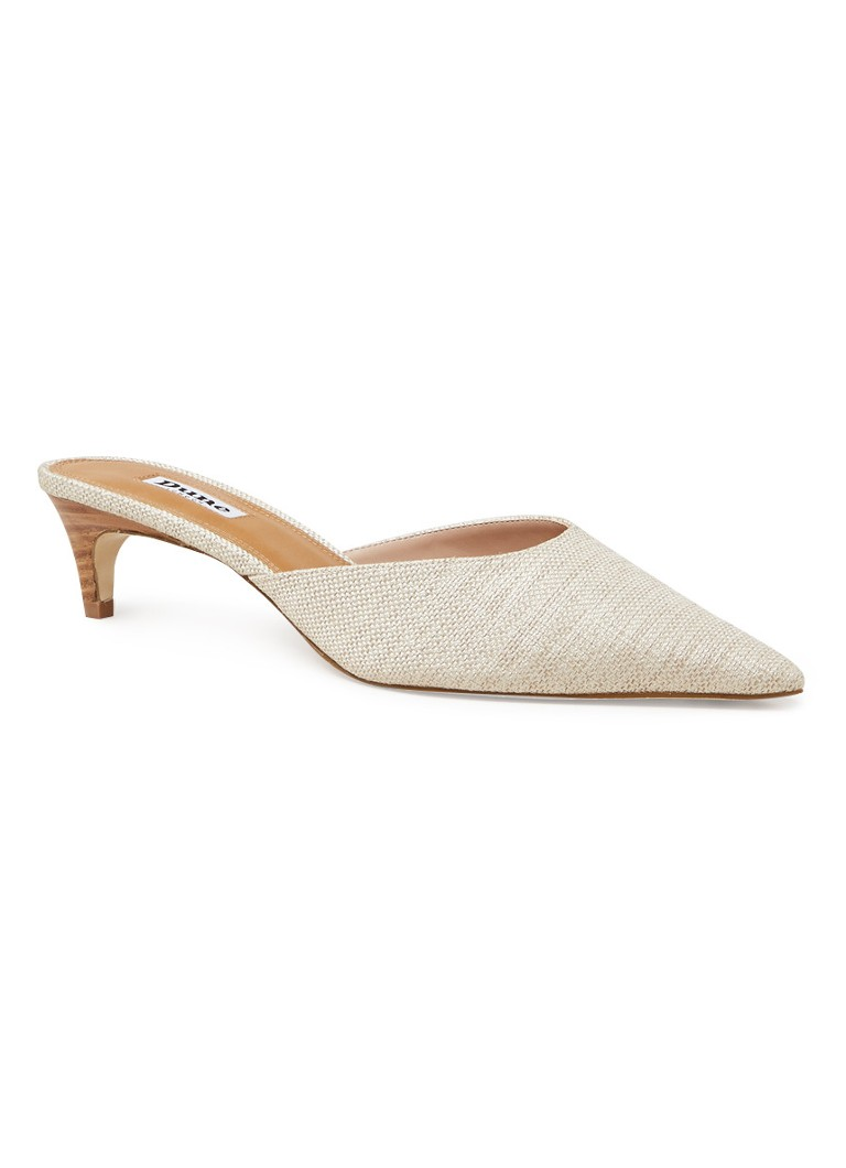 Dune London - Cristy muiltje van canvas - Beige