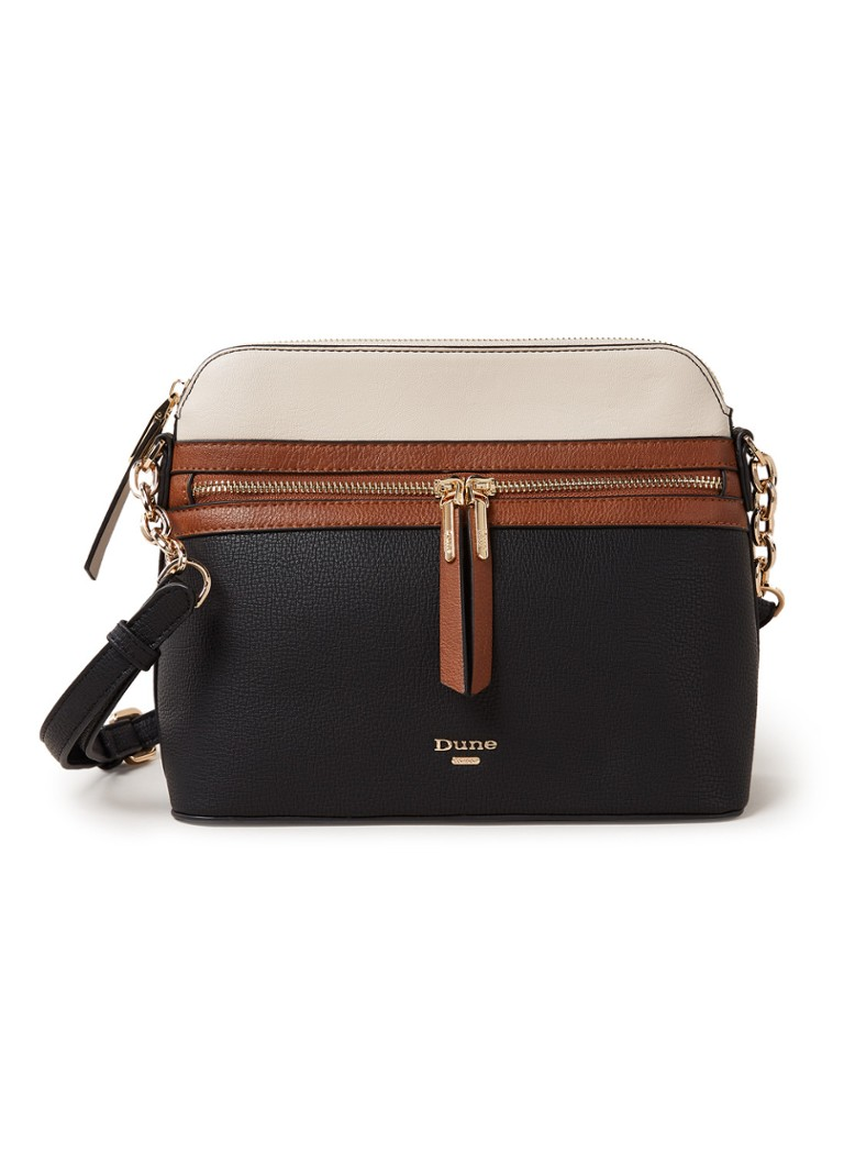 Dune London - Dolive crossbodytas met colour blocking - Zwart
