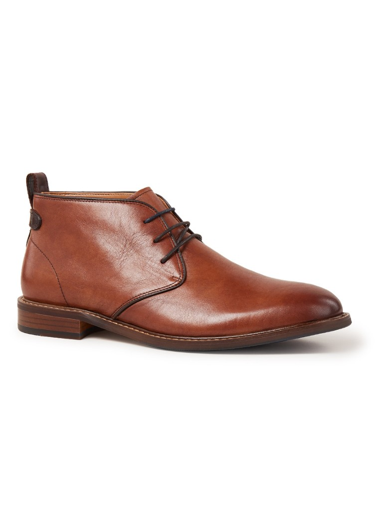 Dune London - Marching veterschoen van leer - Cognac