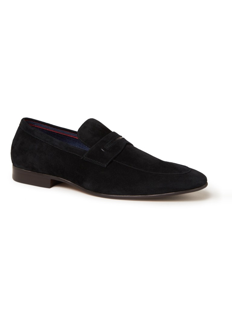 Dune London - Sassoon loafer van suède - Zwart