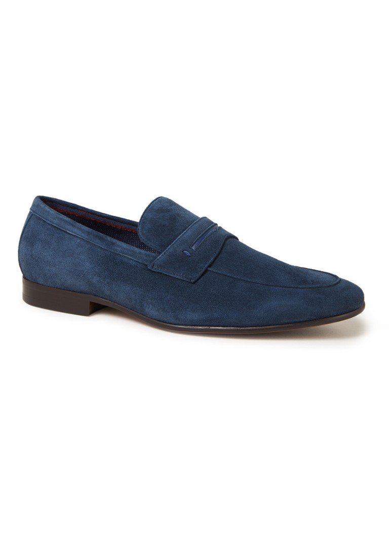 Dune London - Sassoon loafer van suède - Blauw