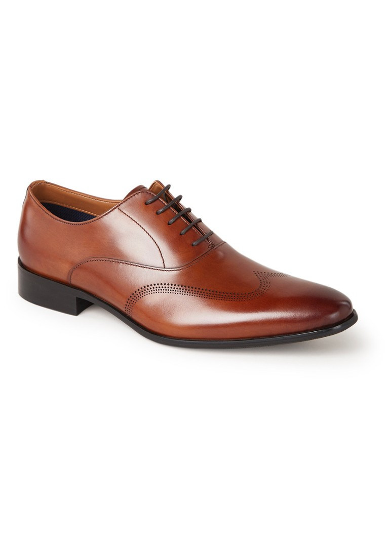 Dune London - Syn veterschoen van leer - Cognac