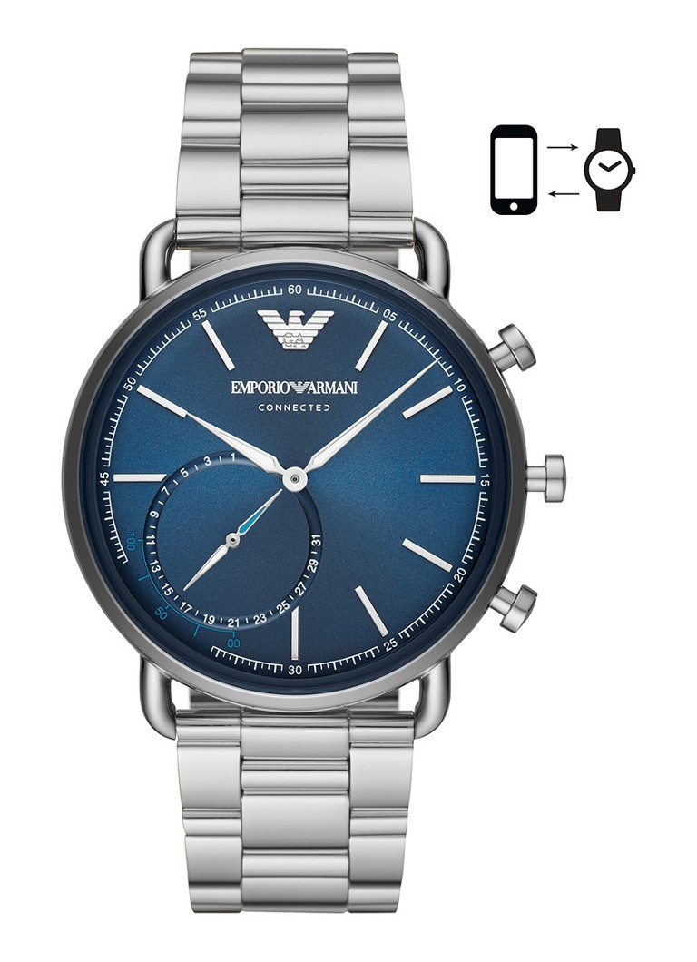 Emporio Armani - Connected hybride smartwatch ART3028 - Zilver