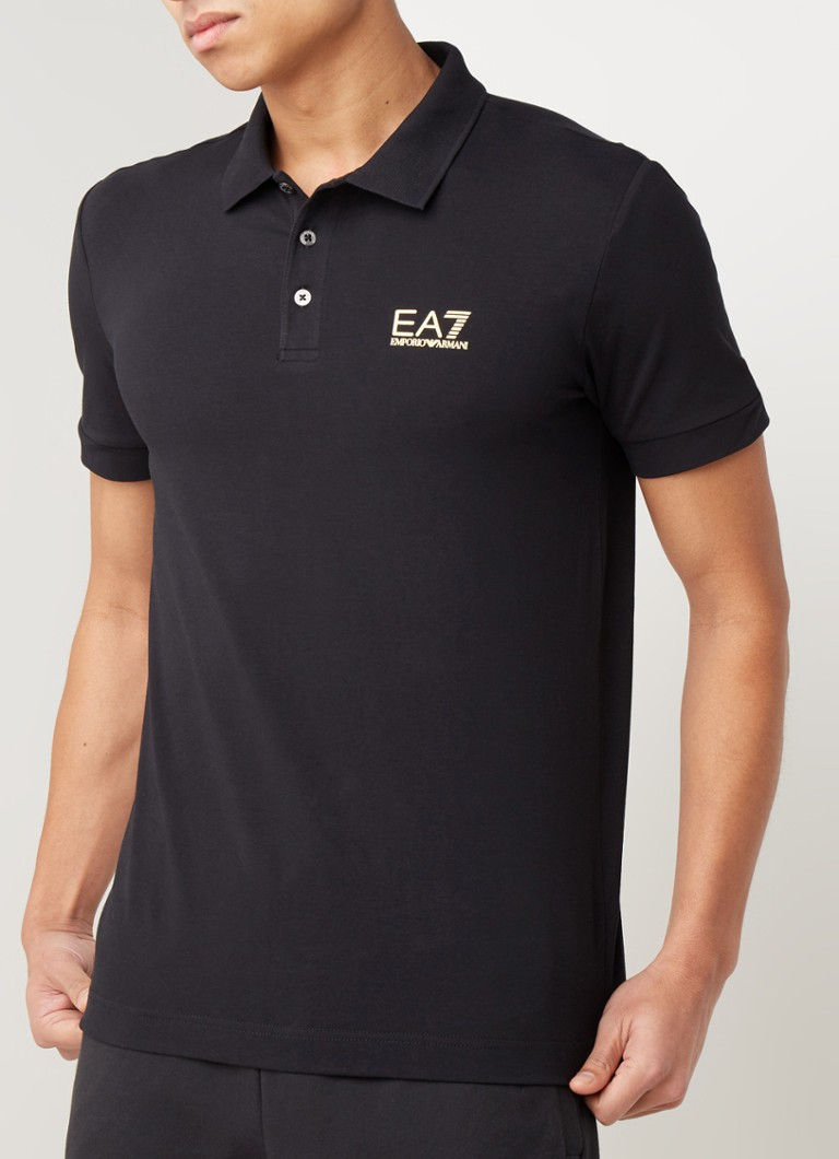 Emporio Armani - Core ID polo in katoenblend met logoprint - Multicolor