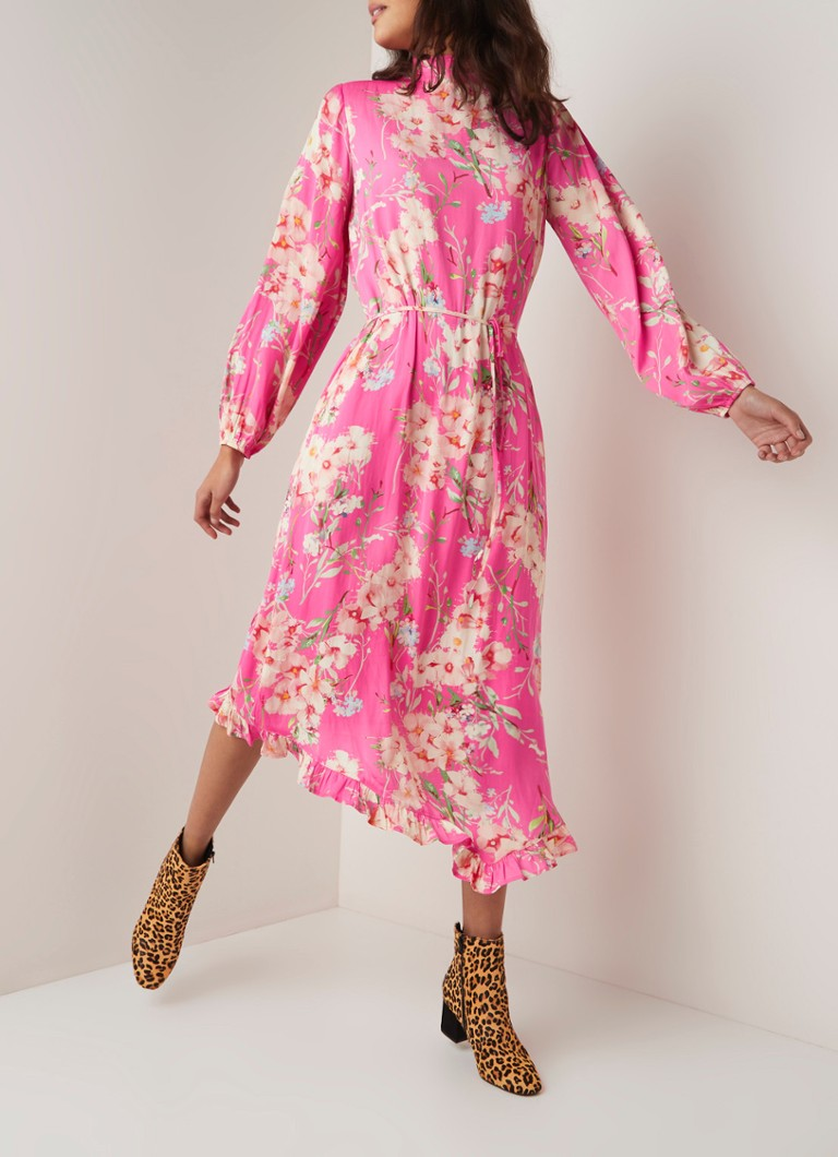 8d9b3952d91 ESSENTIEL ANTWERP Sza maxi-jurk met bloemendessin • de Bijenkorf