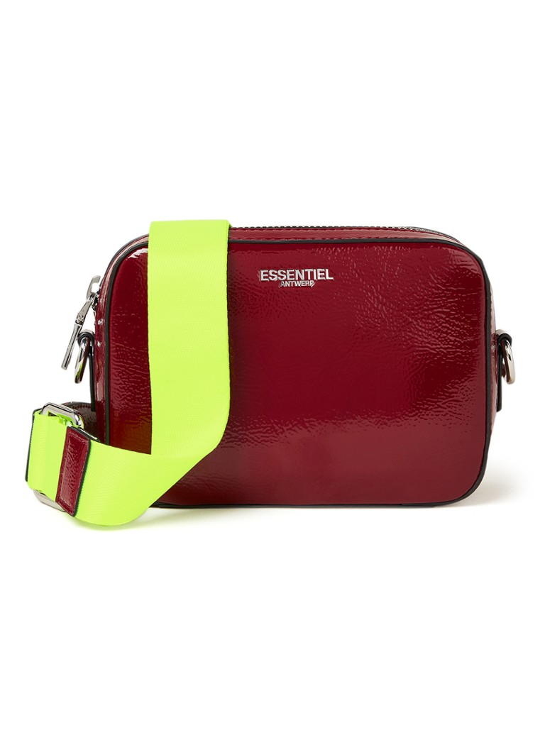 ESSENTIEL ANTWERP - Villian Small crossbodytas met afneembare schouderriem - Donkerrood