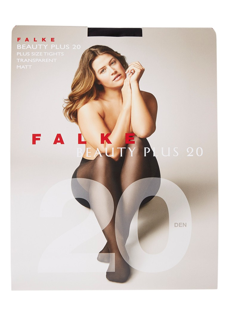 Falke - Beauty Plus panty in 20 denier black - Zwart