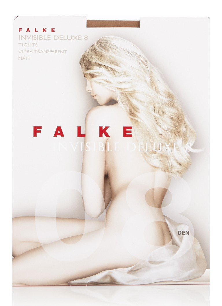 Falke - Invisible Deluxe stay-ups in 8 denier powder - Naturel