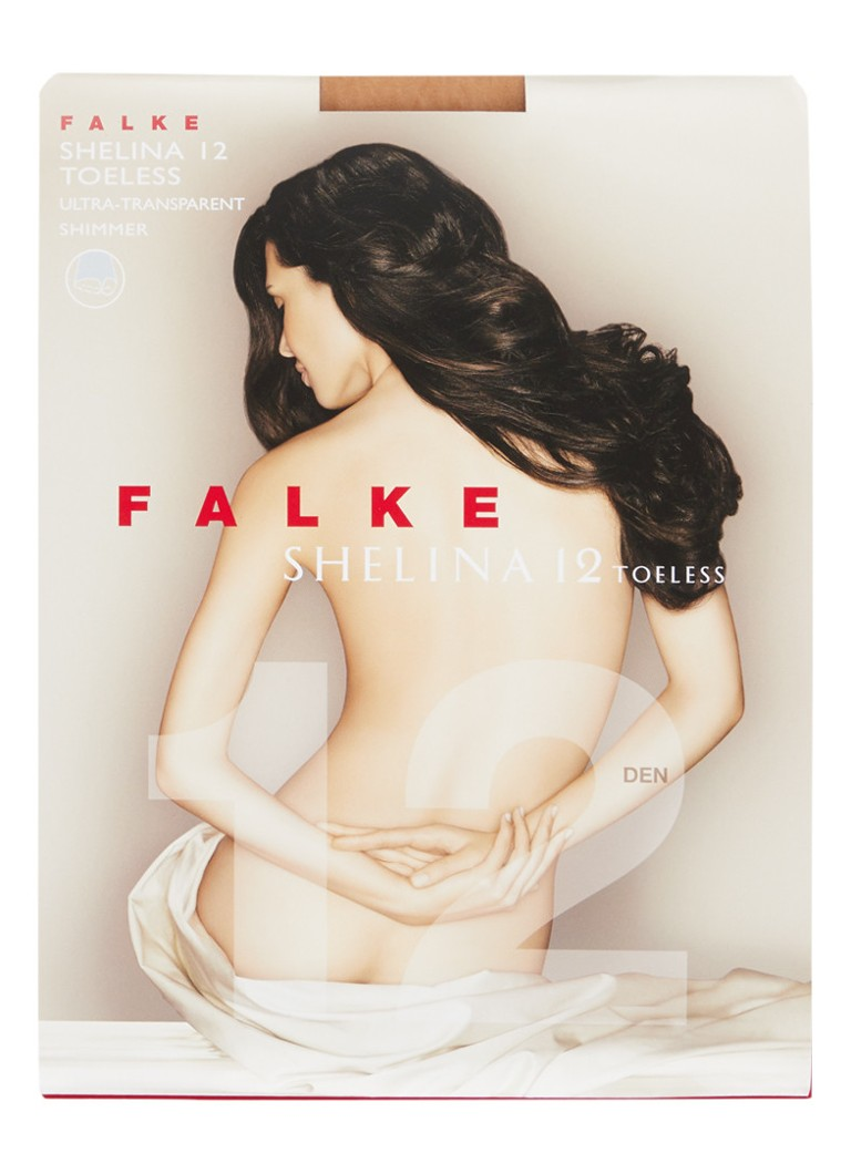 Falke - Shelina Toeless panty in 12 denier sun  - Beige