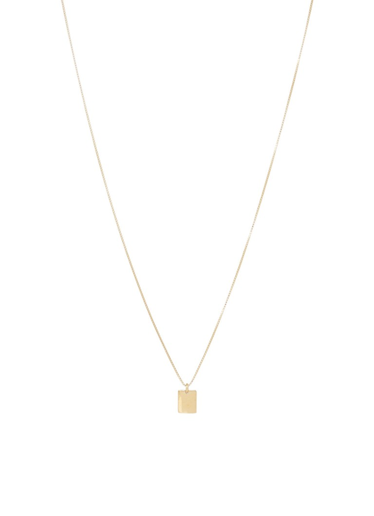 Fashionology - Rectangle Short ketting verguld - Goud