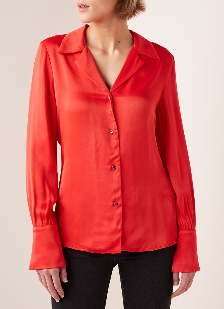 Fifth House - Sail blouse van satijn - Rood