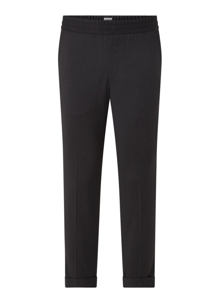 Filippa K - Terry tapered fit cropped pantalon in wolblend - Antraciet