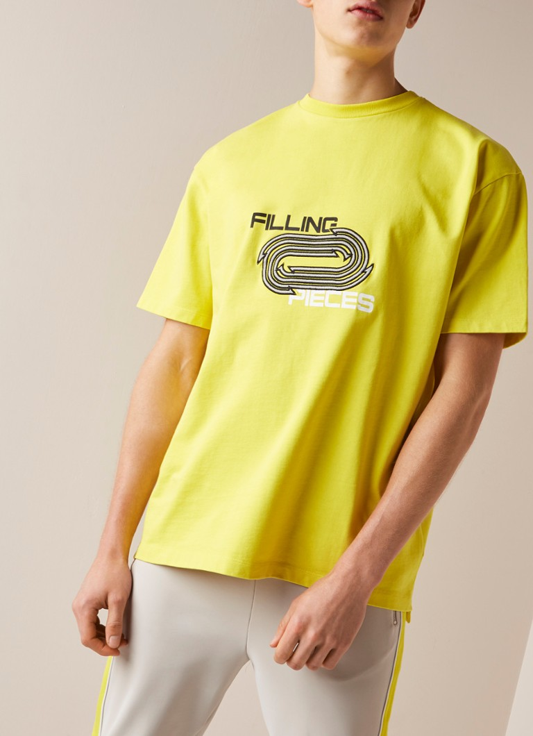 Filling Pieces - Arrows T-shirt met logoprint en borduring - Citroengeel