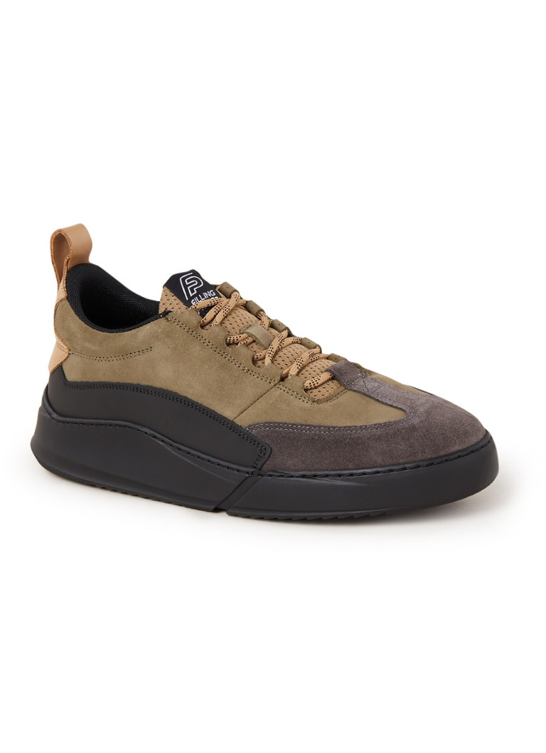 Filling Pieces - Denver Speed Float sneaker van nubuck - Khaki