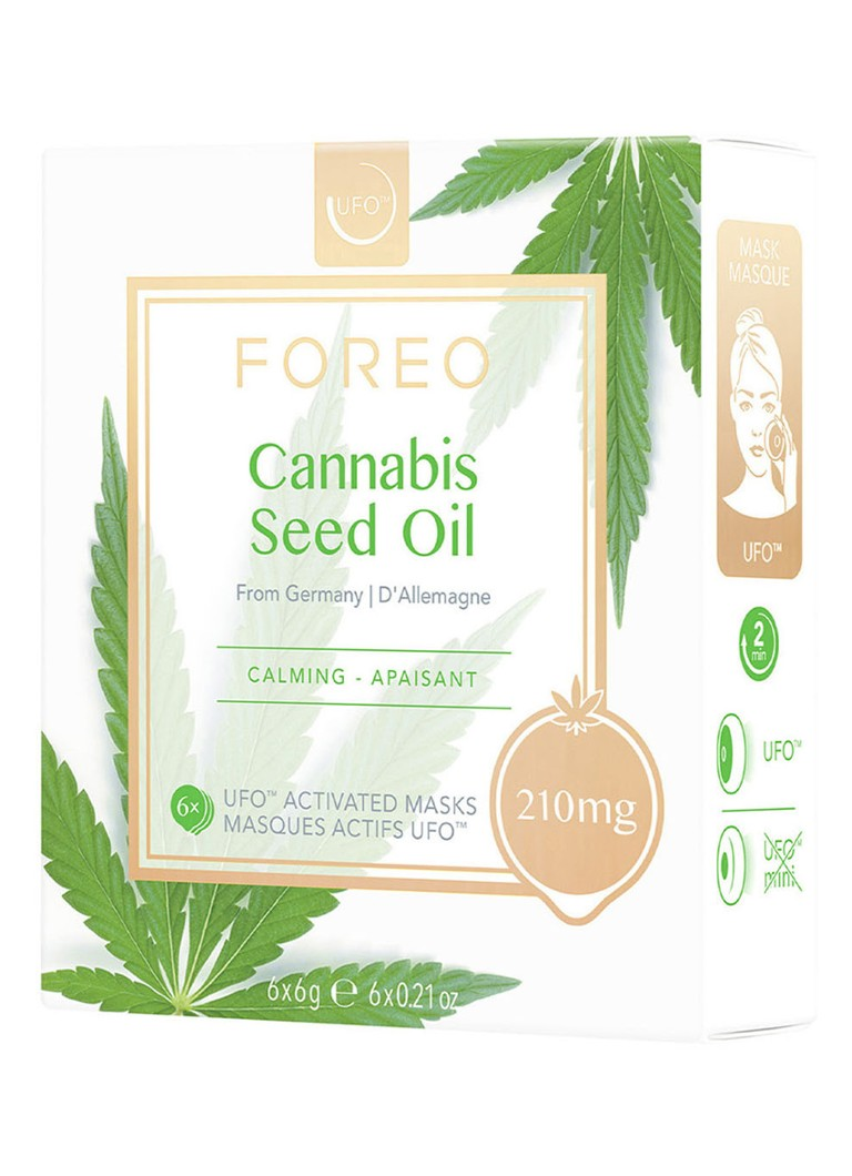 Foreo - Cannabis Seed Oil Mask For UFO - gezichtsmasker - null