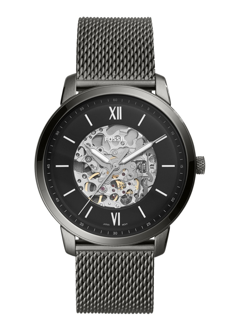 Fossil - Neutra Automatic Horloge ME3185 - Donkergrijs