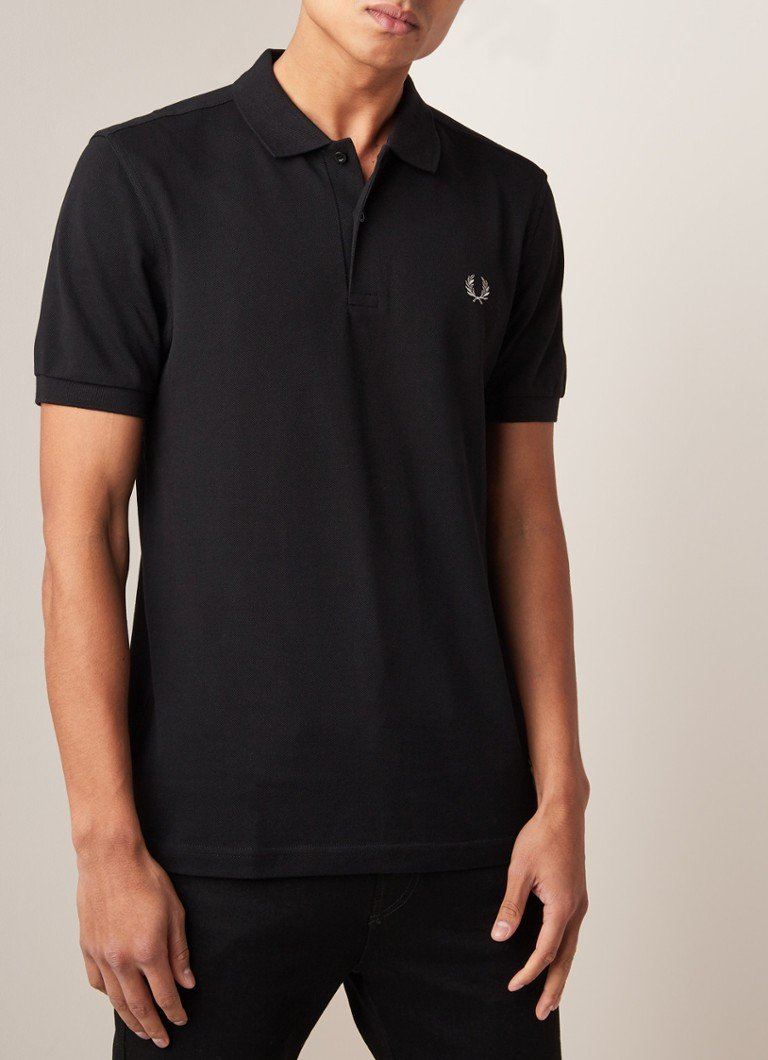 Fred Perry - M6000 regular fit polo met getipte boord - Zwart