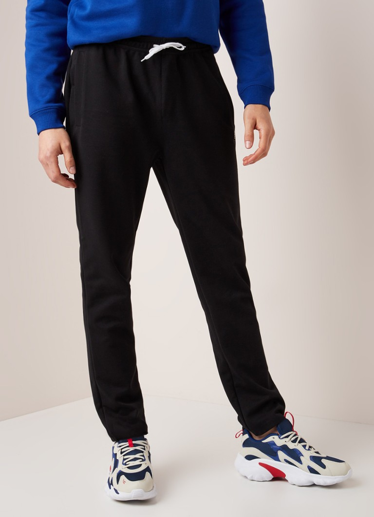 Fred Perry - Tapered fit joggingbroek in katoenblend - Zwart