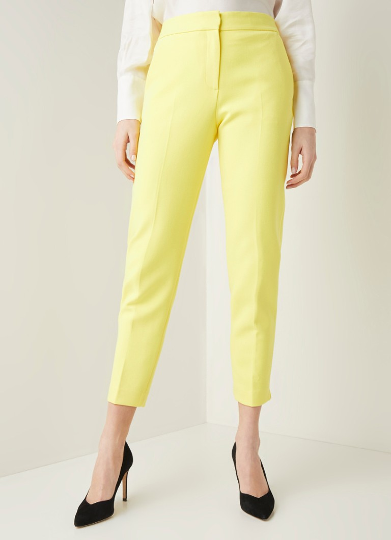 French Connection - Adisa high waist slim fit pantalon - Geel