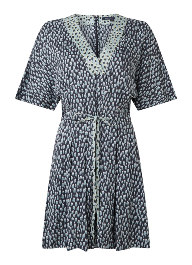 French Connection - Loose fit playsuit met print en V-hals - Antraciet