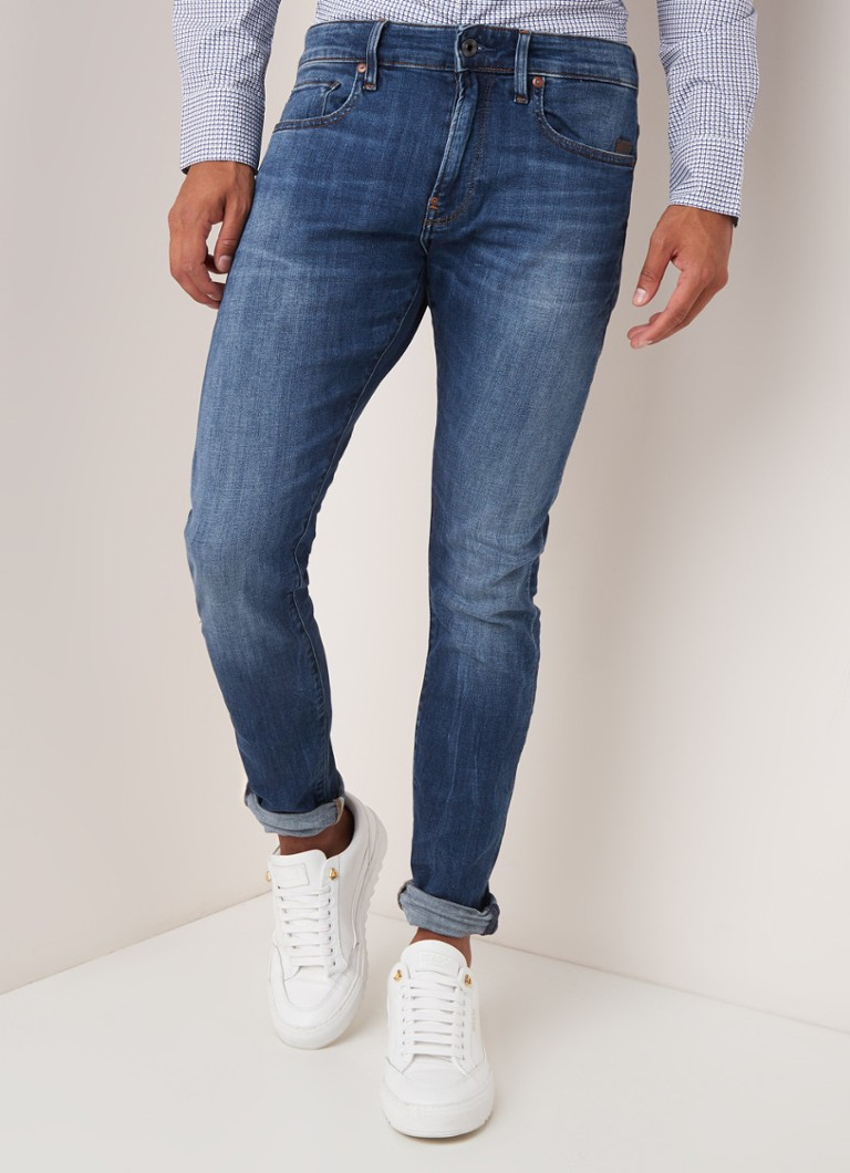 G-Star RAW - Elto skinny fit jeans met medium wassing - Indigo