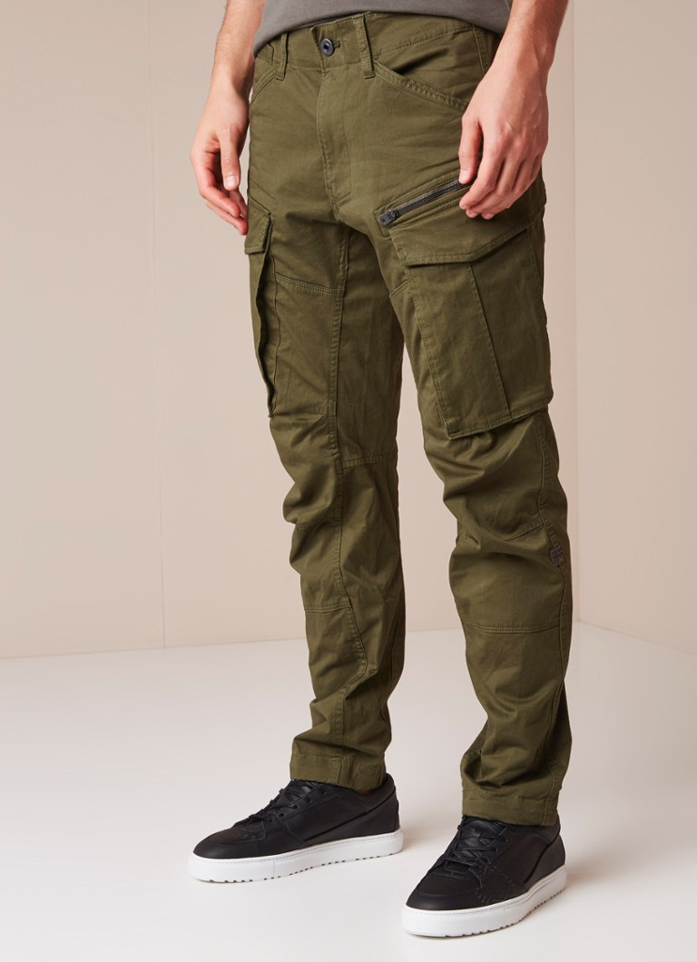 G-Star RAW - Rovic tapered fit cargobroek in katoenblend - Mosgroen