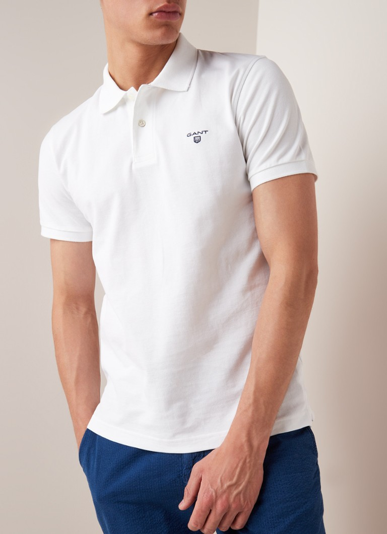 Gant - Summer regular fit polo van piqué katoen - Wit