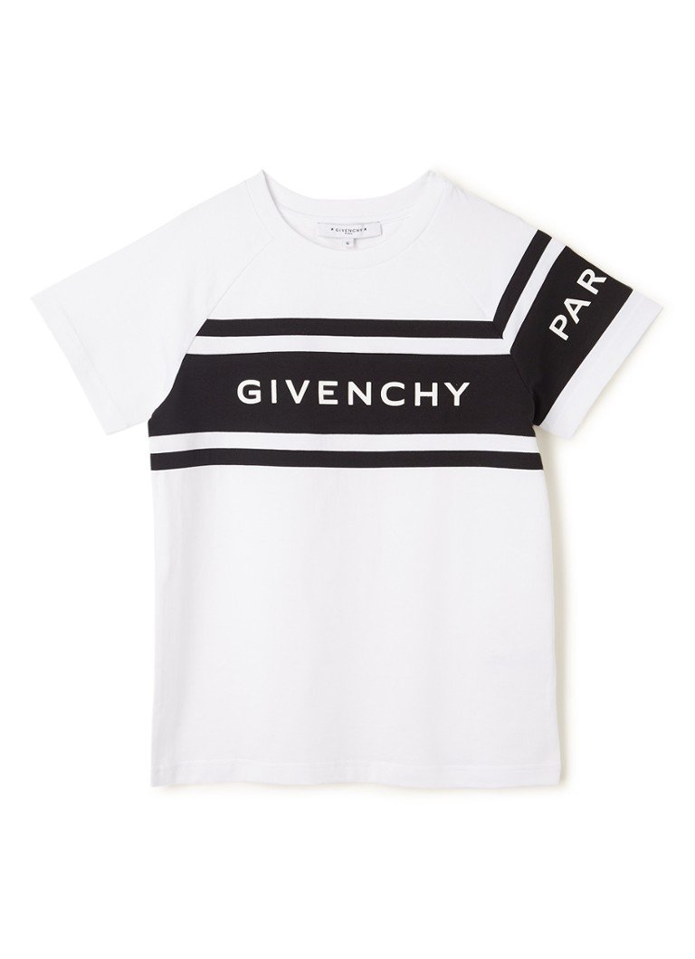 Givenchy - T-shirt met colourblocking en logoprint - Wit