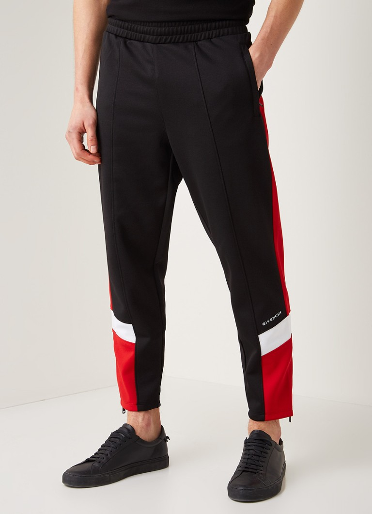 Givenchy - Tapered fit jogger met contrastbies - Zwart