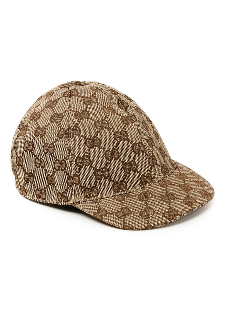 Gucci - Casquette Supreme en canvas - Marron clair