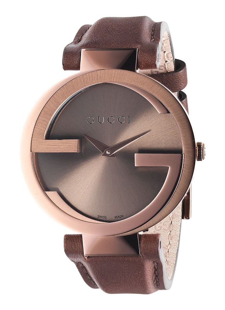 Gucci - Montre Interlocking YA133309 - Or rose
