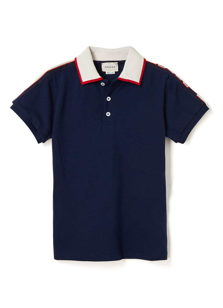 Gucci - Polo met logobies - Donkerblauw