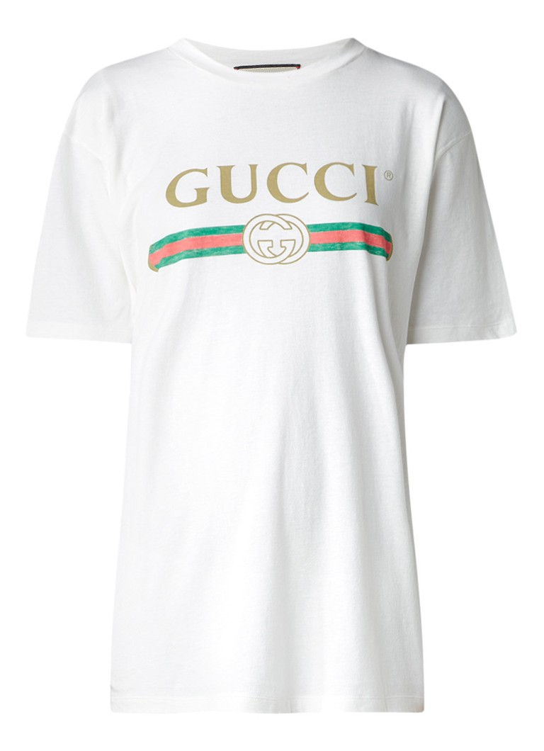 gucci retro t shirt met logoprint de bijenkorf. Black Bedroom Furniture Sets. Home Design Ideas
