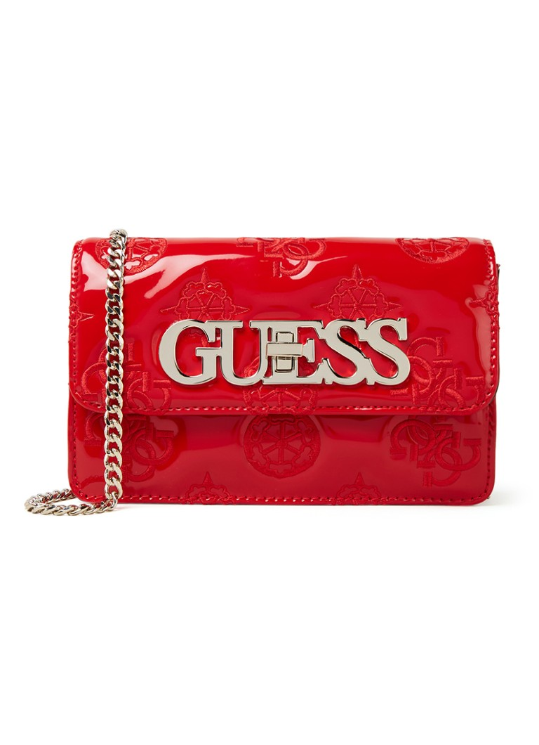 GUESS - Chic Mini crossbodytas met logo - Kersenrood