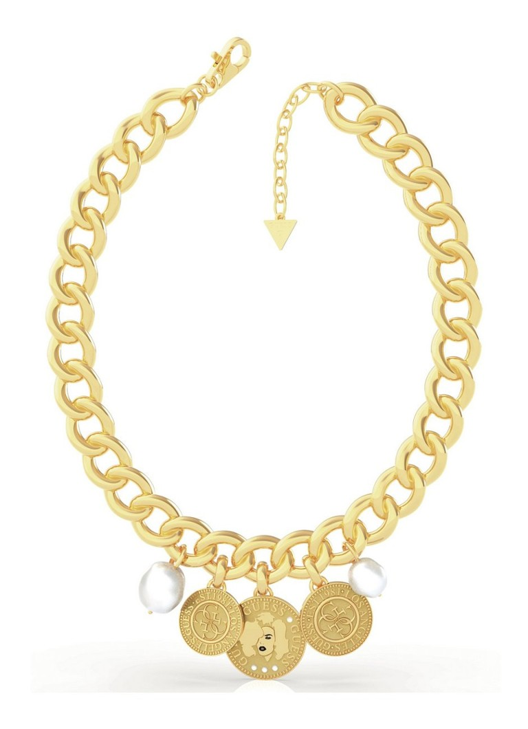 GUESS - Collier avec breloques UBN79125 - Or