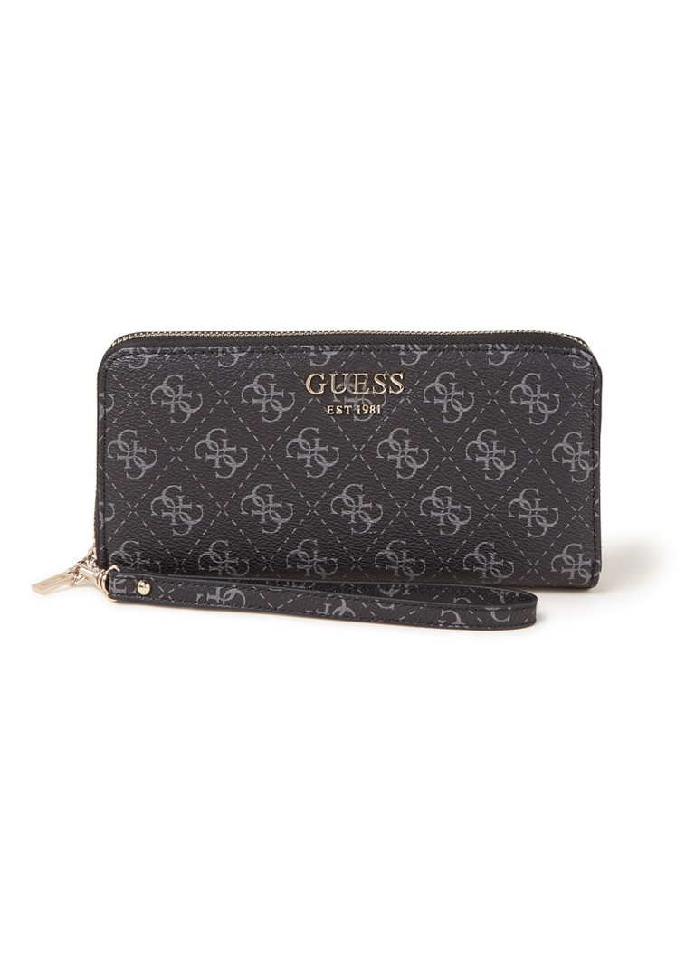 GUESS - Rock portemonnee met logoprint - Antraciet