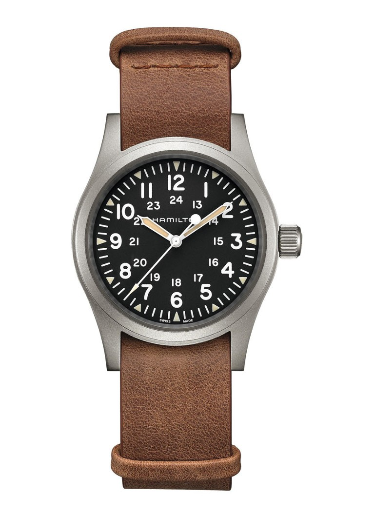 Hamilton - Khaki Field Mechanical horloge H69439531 - Bruin