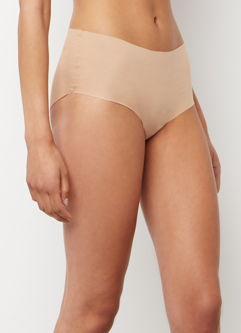 Hanro - Invisible Cotton naadloze high waisted slip - Beige