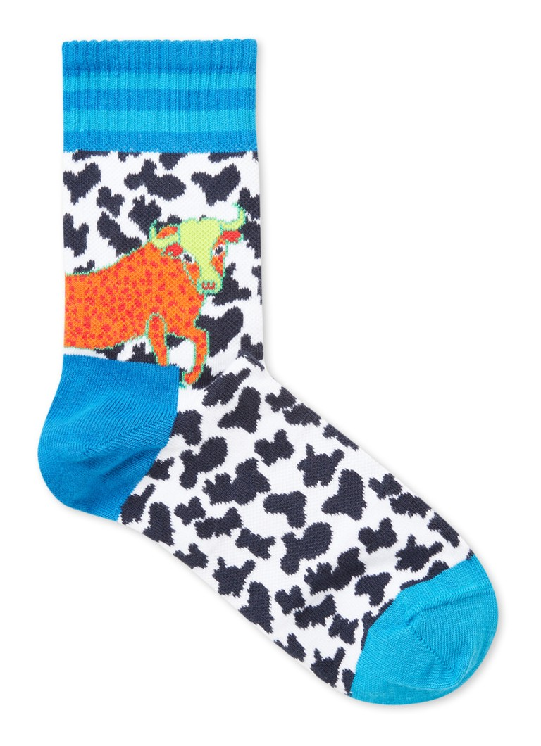 Happy Socks - Athletic Animal sokken met print - Wit