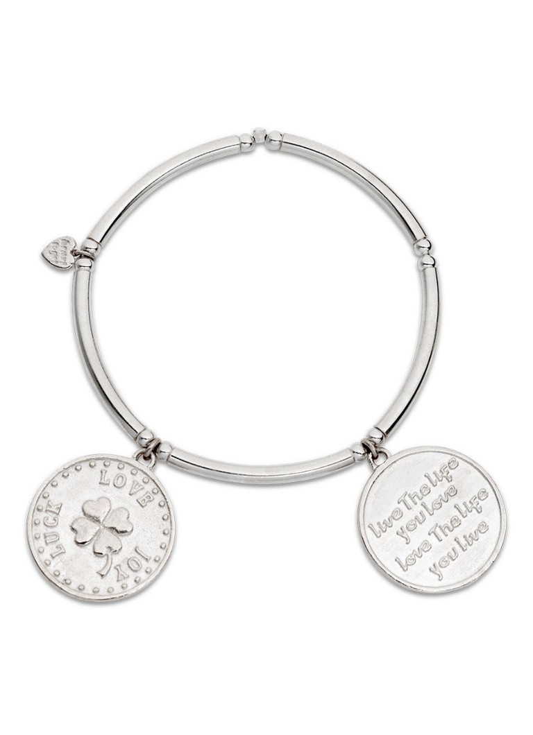 Heart to get - Two coins armband van zilver - Zilver