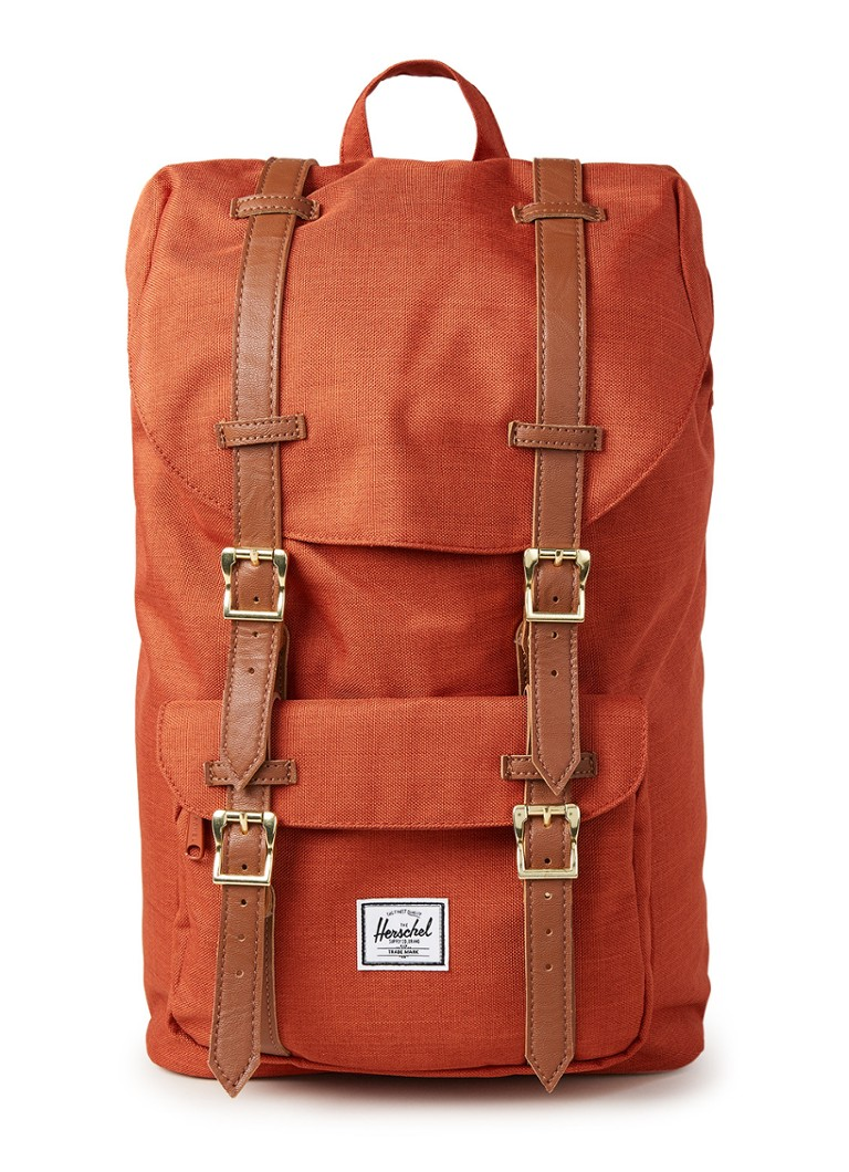 Herschel Supply - Little America M rugzak met 13 inch laptopvak - Donkeroranje