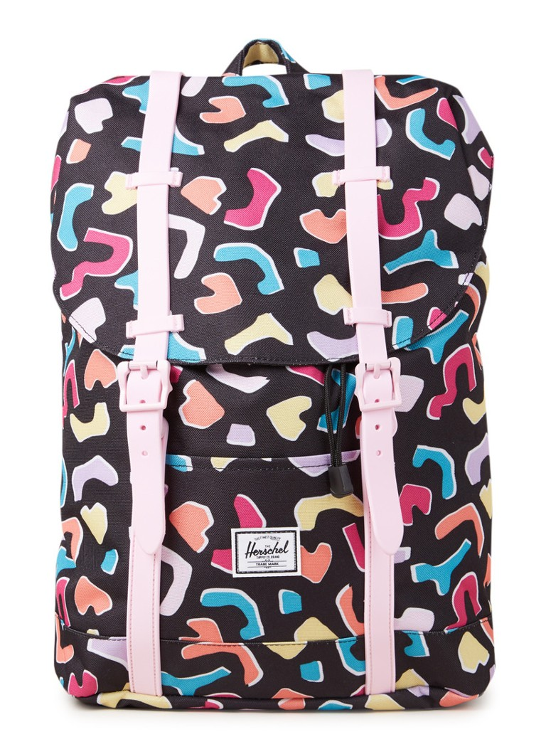 Herschel Supply - Retreat Youth rugzak met dessin - Zwart
