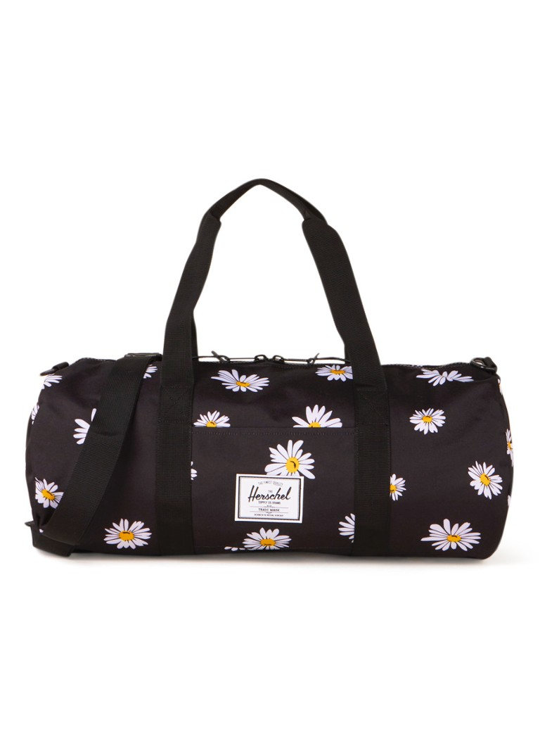 Herschel Supply - Sutton M weekendtas met bloemenprint - unisex - Zwart