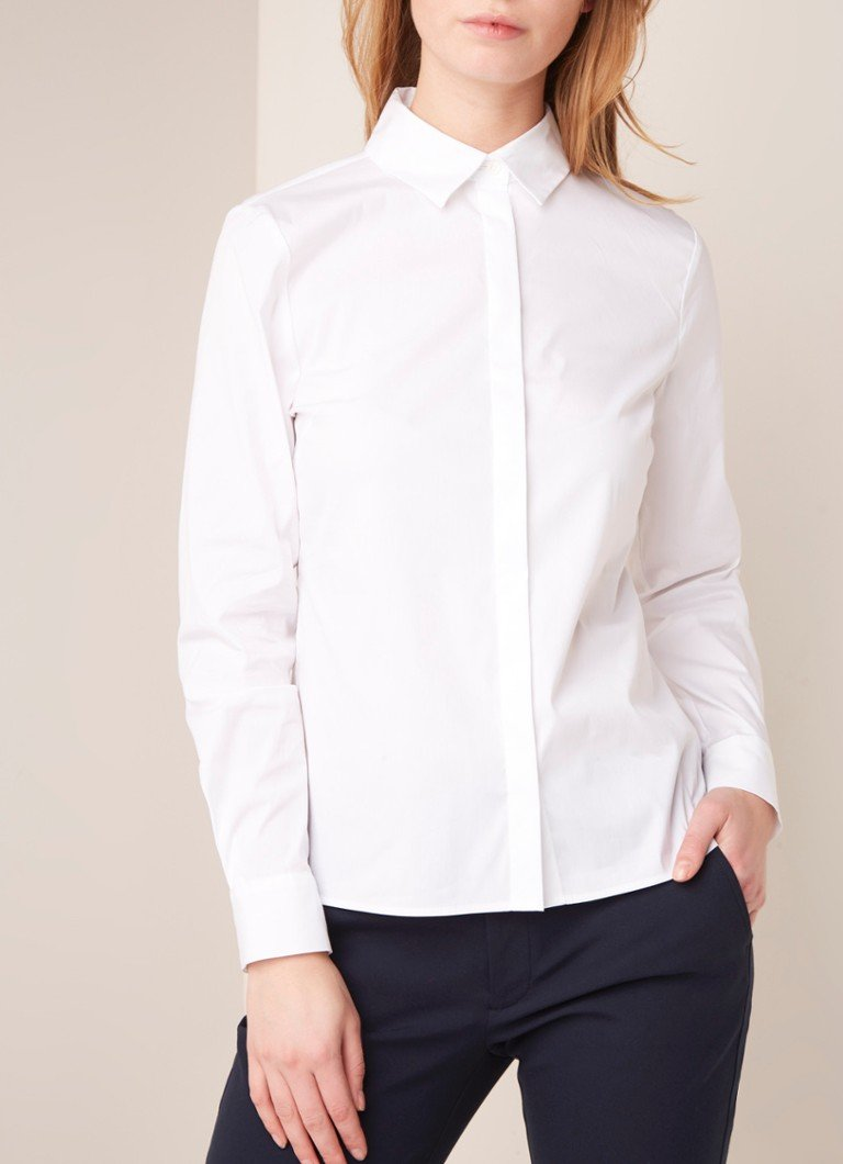 Hobbs - Victoria blouse in katoenblend  - Wit