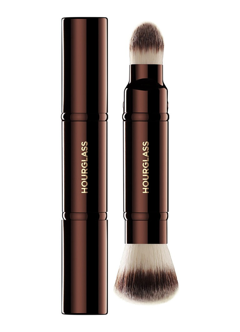 Hourglass - Retractable Double-Ended Complexion Brush - make-up kwast - Donkerbruin