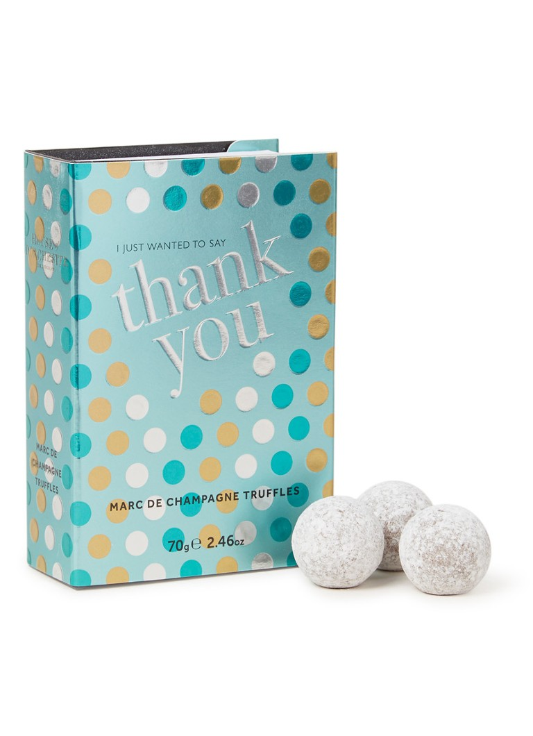 House of Dorchester - Marc de Champagne truffels in Thank You giftbox - null