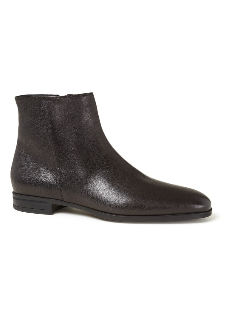 BOSS - Bottines en cuir de veau Kensington - Noir
