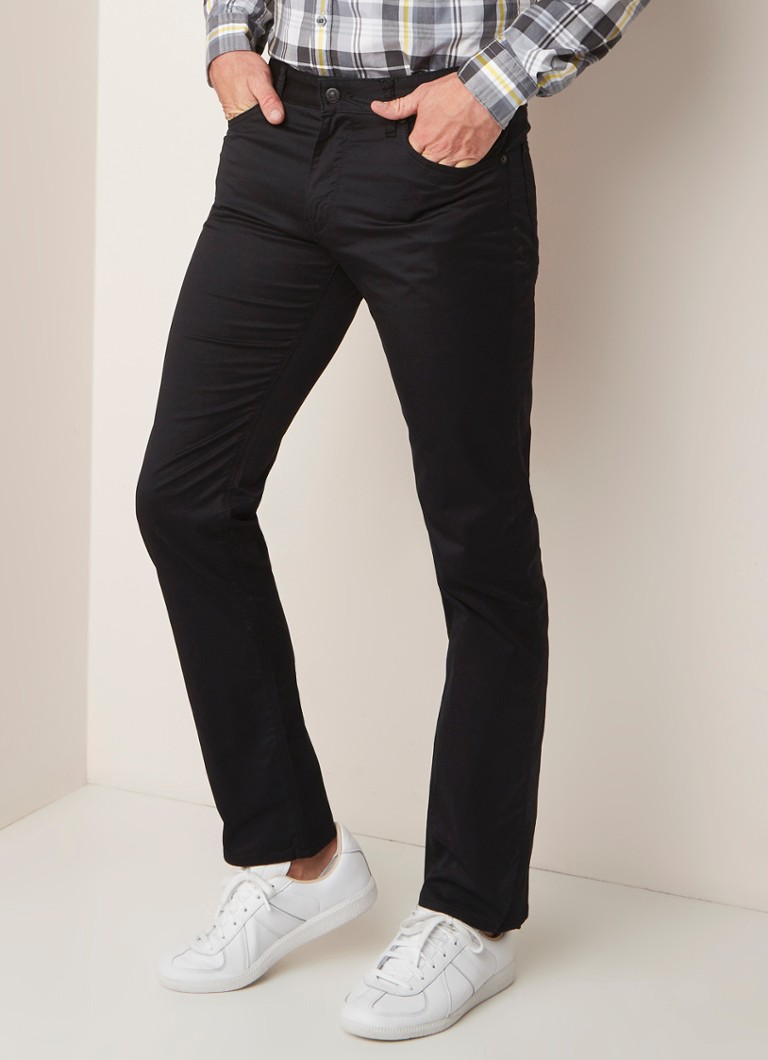HUGO BOSS - Maine regular fit jeans van katoen met stretch - Zwart