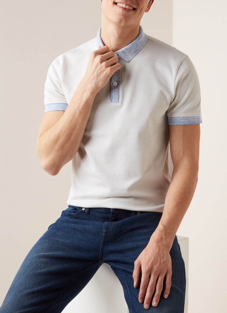 HUGO BOSS - Punch regular fit polo met contrastboorden -