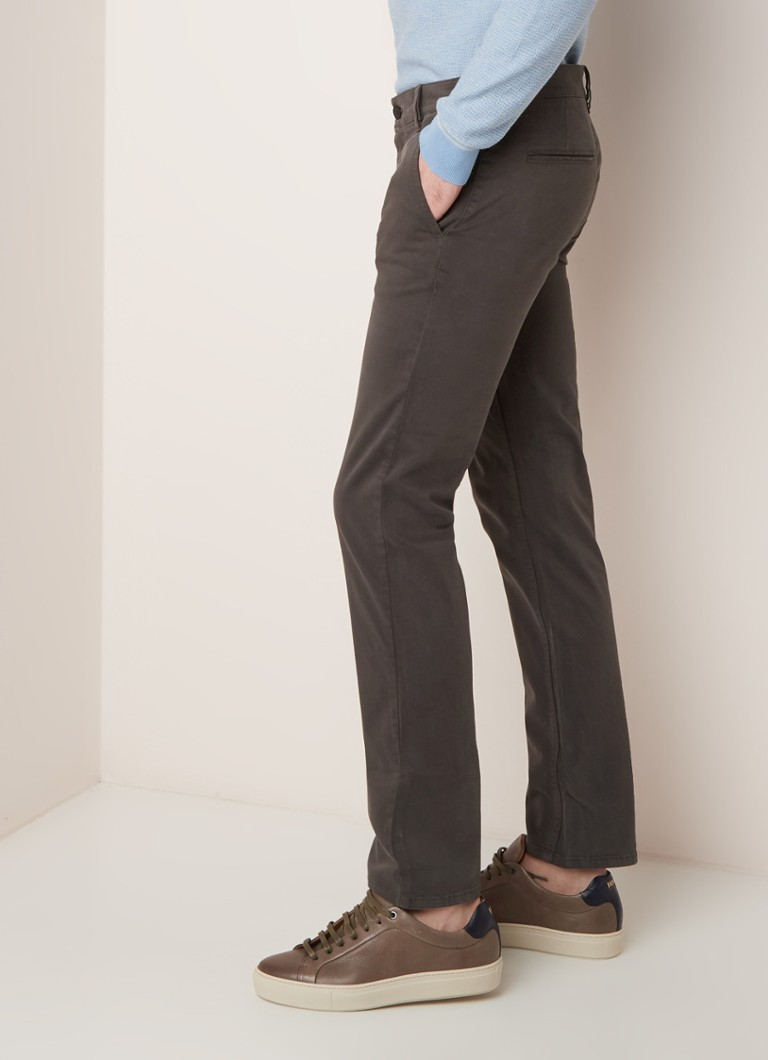 BOSS - Schino slim fit chino in katoenblend  - Antraciet